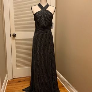 H By Halston Maxi Dress in Black and Primrose